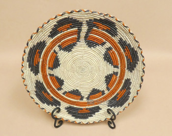 Hand Woven Geometric Basket & Stand