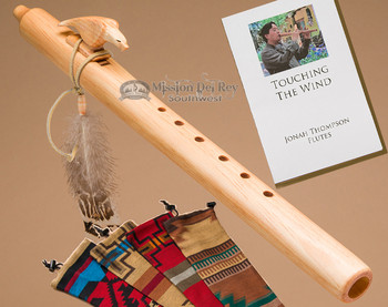 Native American Flute & Bag - Natural Eagle