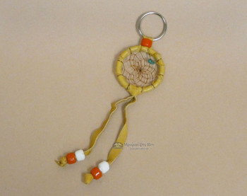 Navajo Deerskin Dreamcatcher Keychain