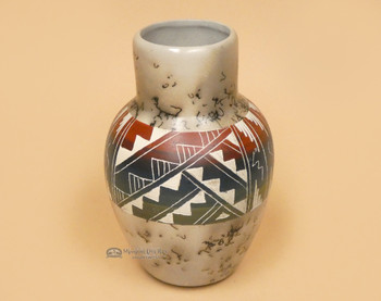 Rainbow Etched Horsehair Pottery