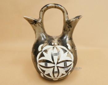 Navajo Indian Etched Wedding Vase -Turtle