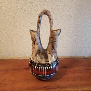 Horsehair Wedding Vase Rainbow Etched