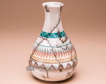 Horsehair Etched Rainbow Vase