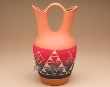 """Lakota Red Indian Wedding Vase 9.5"""" -Sioux (p611)"""