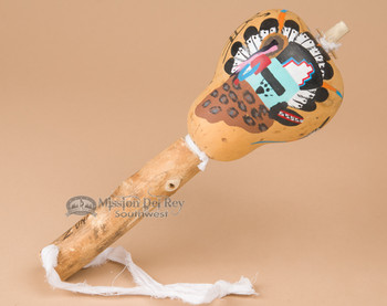 Zuni Indian Gourd Rattle