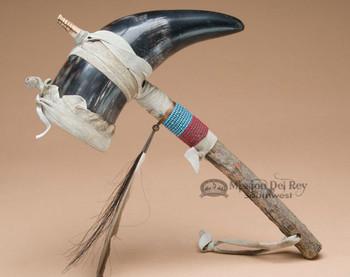 Navajo Beaded Horn Rattle