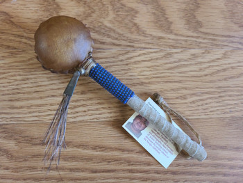Beaded Navajo Rawhide Rattle