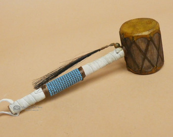 Beaded Navajo Drum Rattle