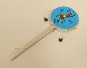 Rawhide Hand Spinner Drum -Lizard
