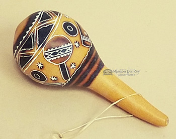 Andean Indian Etched Gourd Rattle