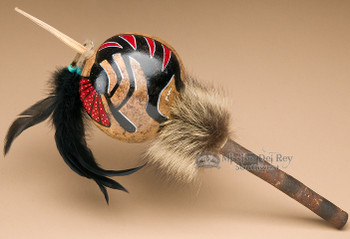 Native Gourd Rattle-Kokopelli