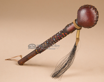 Native American Navajo Rawhide Rattle