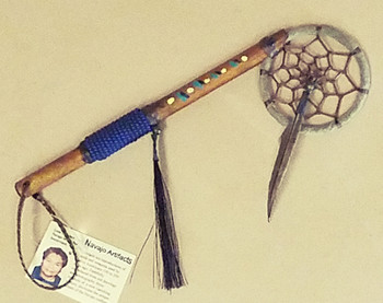 Native American Dream Catcher Spirit Stick - Royal Blue