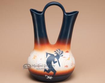 "Native American Navajo Wedding Vase 12"" -Kokopelli"