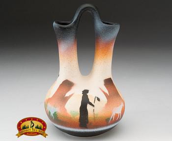 "Native American Navajo Wedding Vase 5"" -Monuments (v205)"