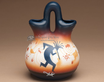 Native American wedding vase - Kokopelli.