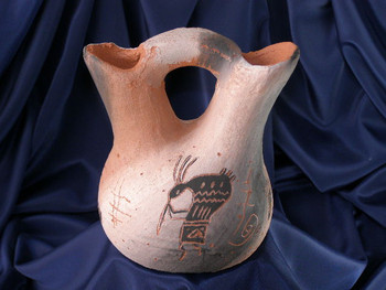 "Navajo Wedding Vase 5.5"" -Etched Cave Art (93)"