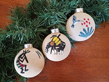 Navajo Pottery Sand Painting Ornaments