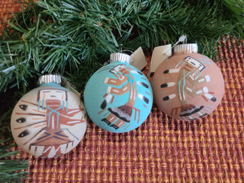 Southwest Sand Painted Ornaments - 3 Pc Set