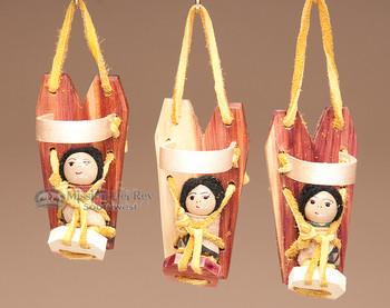 Mini Cradle board Navajo Ornaments