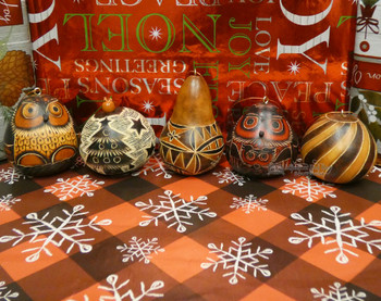 Andean Gourd Ornament Set