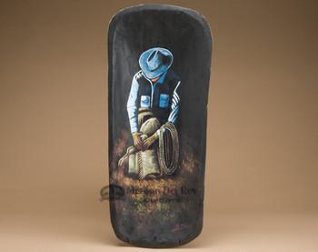 Western Painted Bowl - Cowboy