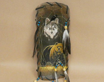 Dreamcatcher Painted Bowl - Bear/Wolf Combo