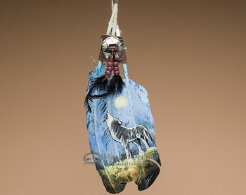 Native American Style Painted Feathers -Wolf (24)
