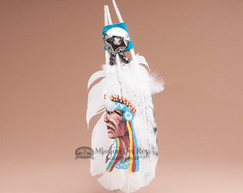 Hand Painted Feather Fan -Chief