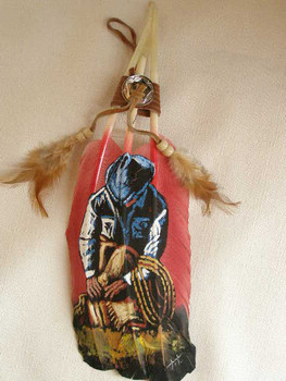 Native American Style Painted Feathers - (PF28)