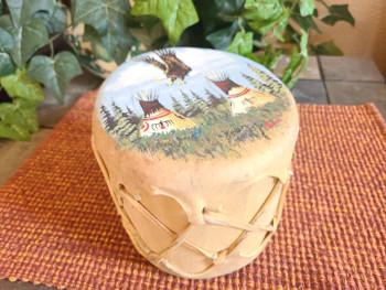 Hand painted Tarahumara Indian Drum