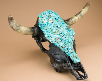 Turquoise and Black Skull