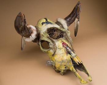 Dreamcatcher Steer Skull - Bull Rider