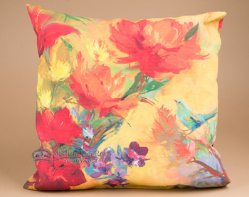 "Indoor Outdoor Climaweave Pillow 18"" -Flowers"