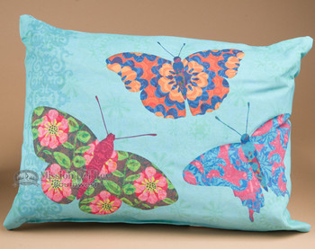 Indoor Outdoor Climaweave Pillow 18x13 -Butterflies