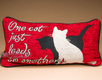 Pet Lover's Word Pillow 17x9 -Cats