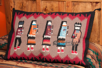 Large Southwest Pillow Cover 24x36 -Yei Dancers