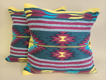 Pair Southwest Old Style Pillow Covers 18x18 -Tempe