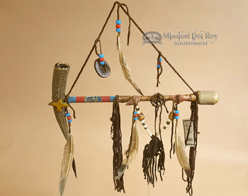 Native American Navajo Antler Peace Pipe