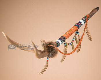 Beaded Indian Antler Pipe