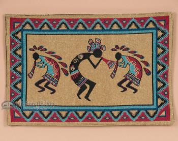Southwestern Tapestry Placemat - Kokopelli