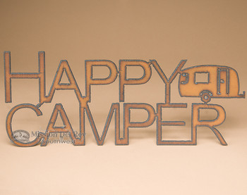 Metal Art Sign - Happy Camper