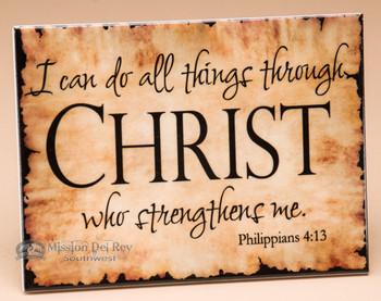 Scripture Plaque - Philippians 4:13