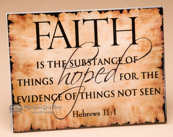 Christian Wall Plaque - Hebrews 11:1