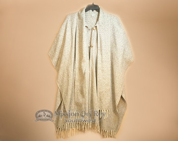 Woven Oaxacan Wool Cape -Diamonds