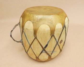 Natural Rawhide Log Drum