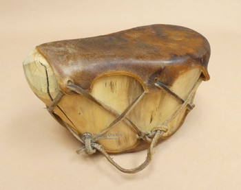 Aspen log drum, dark rawhide