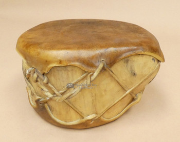 Hand drum made from Aspen tree and rawhide head and lacing