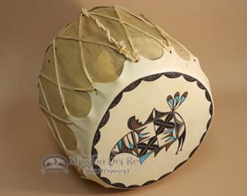 Painted drum, Native American Rainbird