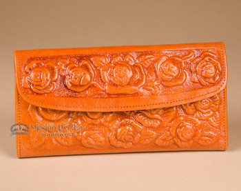 Southwestern Leather Wallet w/ Roses